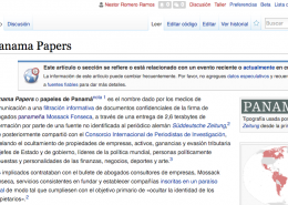 Panama Papers en Wikipedia
